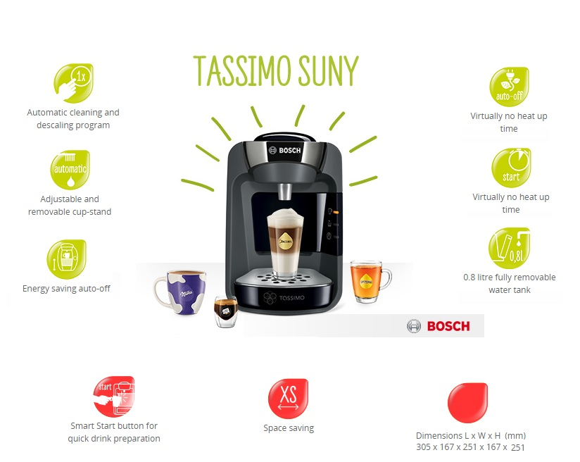 Bosch Tassimo Suny T32 Coffee Machine TAS3202GB