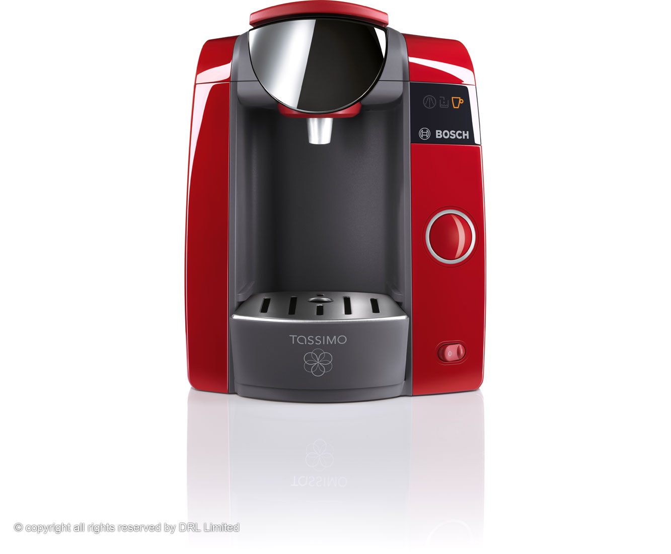 bosch tassimo joy t43 red multi drinks pod machine. Black Bedroom Furniture Sets. Home Design Ideas