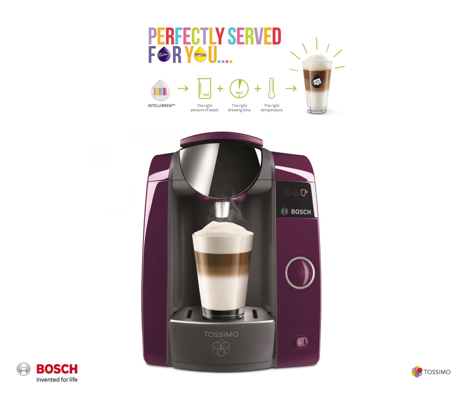 bosch tassimo joy t43 purple multi drinks pod machine. Black Bedroom Furniture Sets. Home Design Ideas